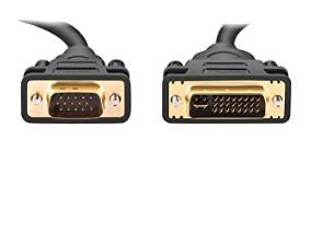 DVI - VGA / 1.5m / M/M / Μαύρο