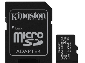 Kingston Micro Secure Digital 32GB microSDXC Canvas Select Plus 80R CL10 UHS-I Card + SD Adapter
